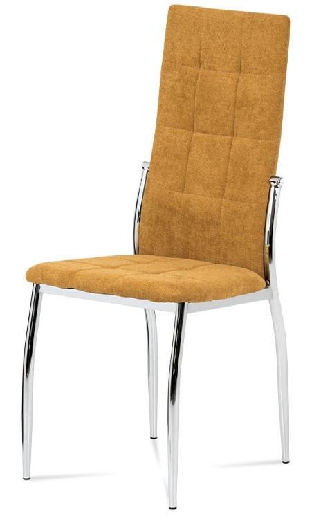 Jídelní židle, kari látka, kov chrom
