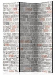 Paraván šedá cihlová stěna 3 dílná