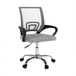 Kancelářská židle, šedohnědá TAUPE / černá, DEX 2 NEW