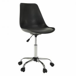 Kancelárská stolička, čierna / tmavo sivá, DARISA