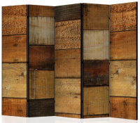 Paraván dřevěné čtverce II 5ti dílný