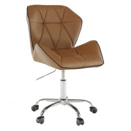 Kancelárská stolička, hnedá-camel, TWIST
