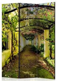 Paraván romantická záhrada 3 dielny