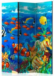 Paraván podmořský život I 3 dílný