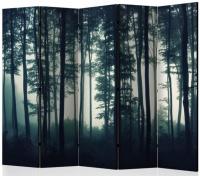 Paraván tmavý les 5ti dílný