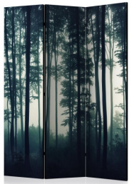 Paraván tmavý les 3 dielny