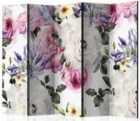 Paraván kvetinový 5tich dielny