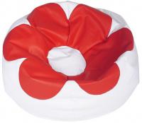 sedací vak FLOWER SK2 bílá SK7 červená