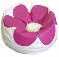sedací vak FLOWER SK2 bílá SK13 růžová