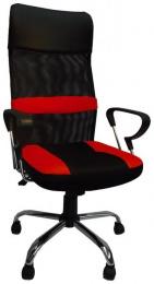 kancelárska stolička Stefanie červeno-čierná
