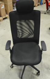 kancelářská LEXA XL+3D podhlavník, černá č.AOJ611