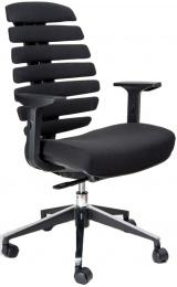 kancelárska stolička FISH BONES čierny plast, čierna látka 26-60 č.AOJ636S