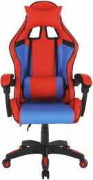herní křeslo SPIDEX modrá/červená