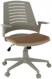 Kancelárská stolička, sivá/ hnědá, DARIUS