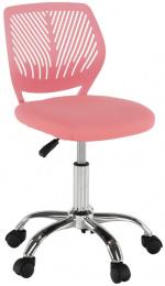 Otočná stolička, růžová/ chróm, SELVA