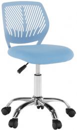 Otočná židle, modrá/chrom, SELVA