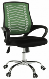 Kancelářská židle, zelená/černá/chrom, IMELA TYP 2