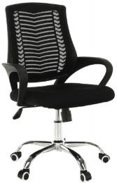 Kancelářská židle, černá/chrom, IMELA TYP 2