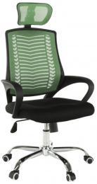 Kancelárská stolička, zelená/čierna/chrom, IMELA TYP 1
