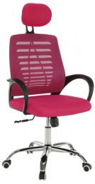 Kancelářská židle, růžová, ELMAS