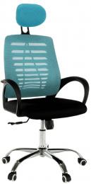 Kacelárská stolička, modrá/čierná, ELMAS
