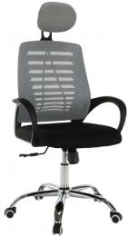 Kacelárská stolička, sivá/čierná, ELMAS