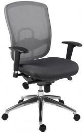 kancelárská stolička OKLAHOMA sivá bez podhlavníka