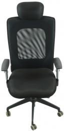 kancelárska stolička LEXA s podhlavníkom, čierna č.AOJ936