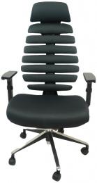 kancelárska stolička FISH BONES PDH čierny plast, šedá  TW12 č.AOJ1018