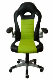kancelářské křeslo LOTUS černo-zelené, č. AOJ1093