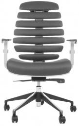 kancelárska stolička FISH BONES šedý plast, šedá látka TW12 č.AOJ1118S