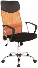 Kancelářská Q025 černo-oranžová Prezident II