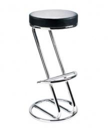 Barová stolička ZEUS čierna koženka