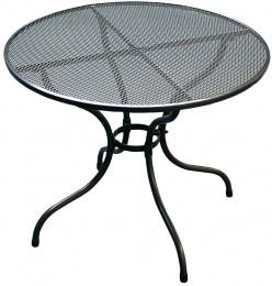 Kovový zahradní stůl TAKO 90cm - U502 kulatý