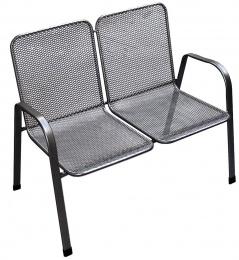 zahradná stolička kovová SÁGA dubl U002