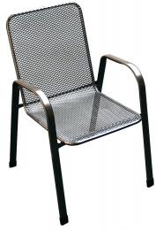 Záhradná stolička kovová SÁGY nízka U001